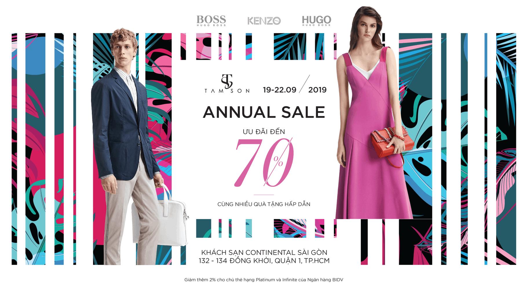 Tamson Annual Sale: Saint Laurent, Bottega Veneta, Hugo, Boss, Kenzo Giảm Giá Tới 70% 1