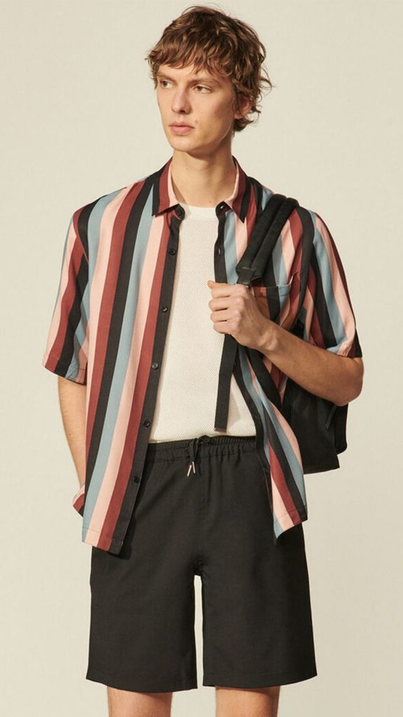 Sandro_Flowing shirt with stripe print (Copy)